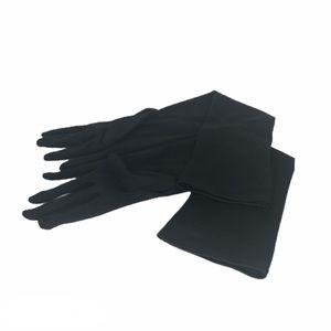 Black long elbow gloves